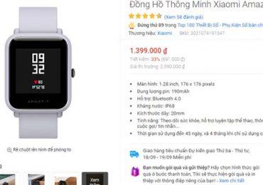 Có nên mua đồng hồ thông minh trên Tiki hay không